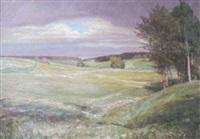 landschaft im frühling by ferdinand otto leiber