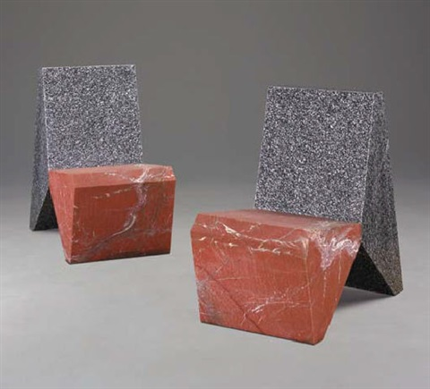 granite chair by scott burton