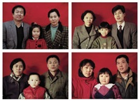 standard family series #2 (+ 8 others; 9 works) by wang jinsong
