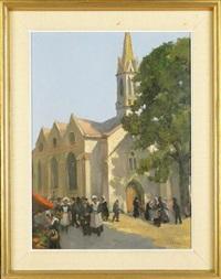 le petit marché du dimanche à bénodet, bretagne by fernand lienaux