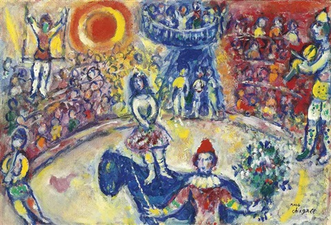 au cirque by marc chagall