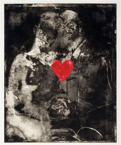 two figures linked by pre verbal feelings by jim dine