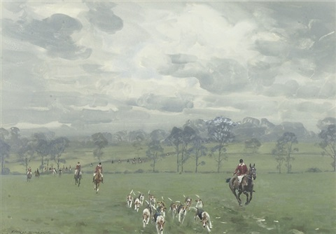 pytchley hounds by charles walter simpson