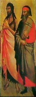 s. marino e s. giovanni battista by spinello aretino