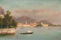 riva by lake garda by carl gustav rodde