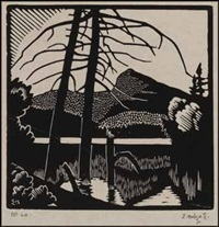 landscape - laurentian mountains by edwin headley holgate
