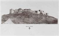 kalaat tebnin (panorama), djebaïl, kalaat-l-hosn. syrie (3 works) by louis de clercq
