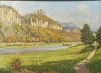 ansicht aus dem elbsandsteingebirge by karl papesch