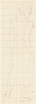 studie einer frauenfigur by ferdinand hodler