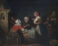 paysannes dans un intérieur by aimé pez
