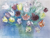 bouquet de tulipes by jean dufy