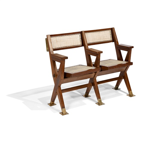 Strange Two Seat Theater Bench By Pierre Jeanneret On Artnet Caraccident5 Cool Chair Designs And Ideas Caraccident5Info