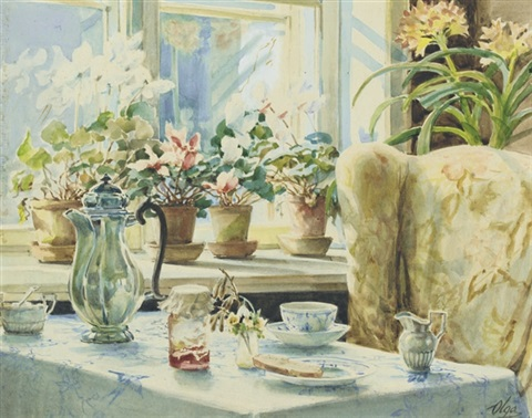 the breakfast table by olga aleksandrovna princess of storfyrstinde