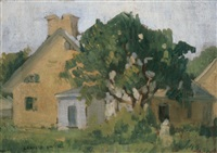 home and garden with figure by lewis edward smith