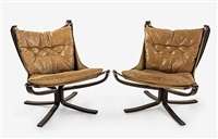 low-back falcon chairs (pair) by sigurd ressell