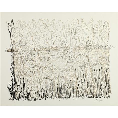 swamp by jean paul riopelle
