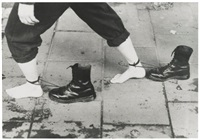 performance still by mona hatoum