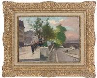 quai des grands augustins by jules ernest renoux