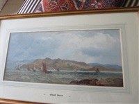 yachts in loch crinan from opposite don troon castle by edward duncan