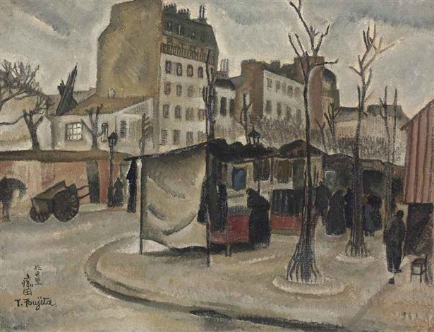 marché de paris by léonard tsuguharu foujita