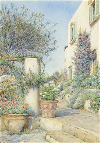 villa cercola, capri by ernest arthur rowe