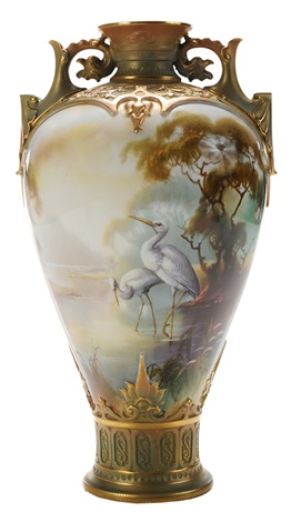 Royal Worcester Vase By William E Powell On Artnet