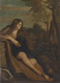 the penitent magdalene by annibale carracci