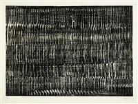 struktur in schwarz vibration i by heinz mack