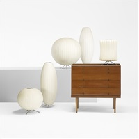 collection of five bubble table lamps (5 works) by george nelson & associates