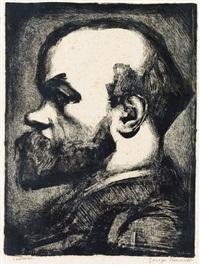 portrait de raul verlaine by georges rouault