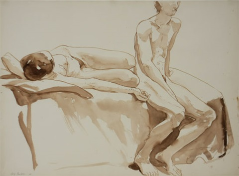 two figures by philip pearlstein