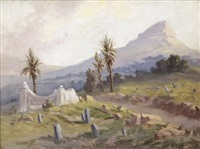 old malay cemetery, signal hill by allerley glossop