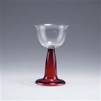 rotweinglas aus dem service für das speisezimmer des hauses behrens in darmstadt by peter behrens