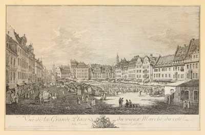 vue de la grande place du vieux marché de la rue du château royale by bernardo bellotto
