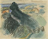 vue sur saint-paul-de-vence by raoul dufy