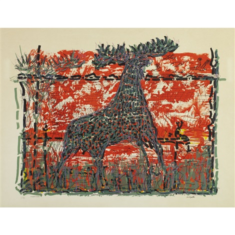 orignal rouge by jean paul riopelle