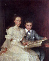 ivy and jamie, children of c.w. bartholemew, esq. by john henry frederick bacon