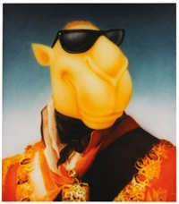 emperor camel wearing sunglasses by zhou tiehai
