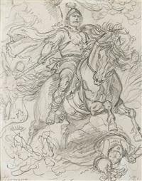 helden-/historien-darstellungen (13 works) by wilhelm camphausen