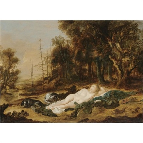 diana resting after the hunt collab w aert van der neer by peter coode
