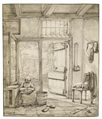 blick in eine küche by abraham van stry the elder