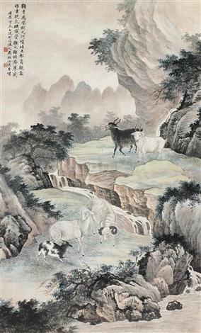 五羊图 (sheep) by ma dai