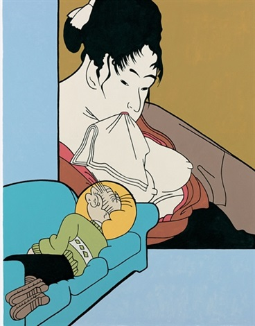 utamaro washing bumstead sleeping by john wesley