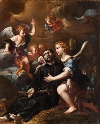 muerte de san francisco javier confortado por los ángeles by ludovico mazzanti