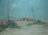 basuto huts by erich fleischman
