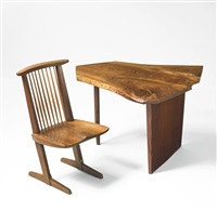 minguren desk and conoid chair by george nakashima
