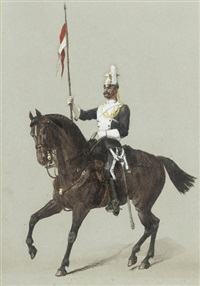 a trooper of the 17th lancers (+ 4 others; 5 works) by richard simkin