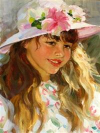 portrait of a girl by vladimir gusev
