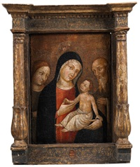 maria mit dem kind und zwei weiteren heiligen by anonymous-italian (15)