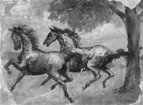 frolicking horses by charles j burdick